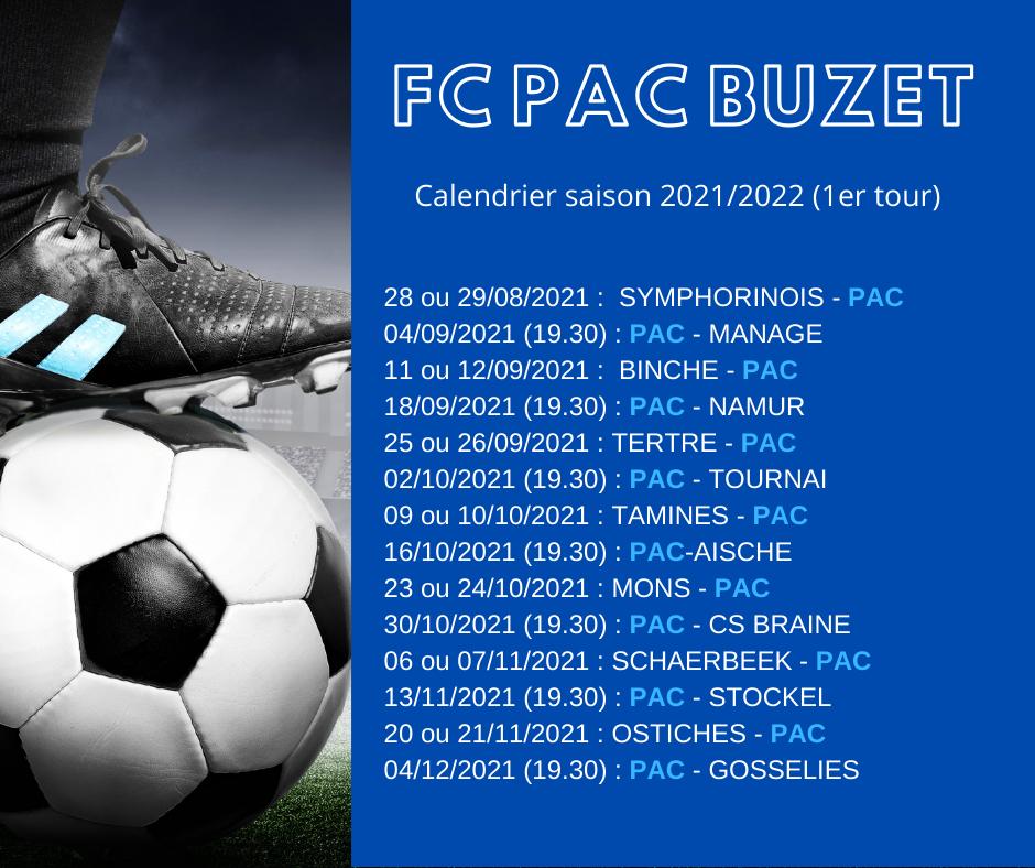 Calendrier 2021 2022 D3a – 1er tour